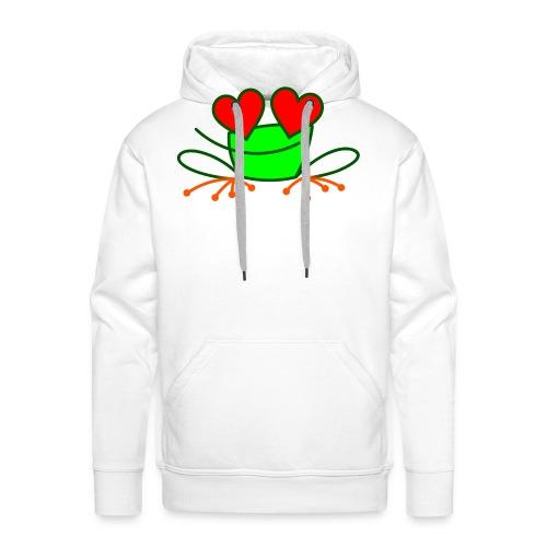 Frog in Love - Men's Premium Hoodie