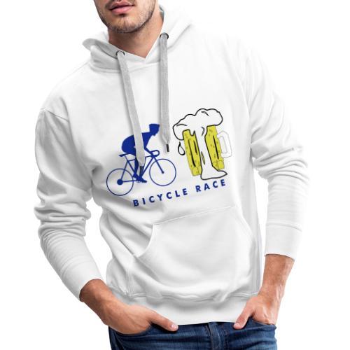 Cool bicycle race beer design - Mannen Premium hoodie