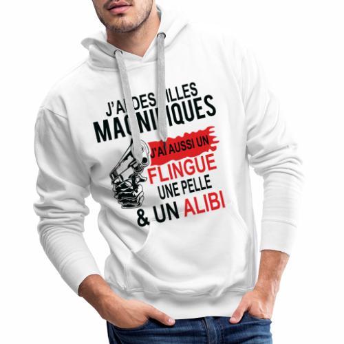 J'AI DEUX FILLES MAGNIFIQUES Best t-shirts 25% - Sweat-shirt à capuche Premium pour hommes