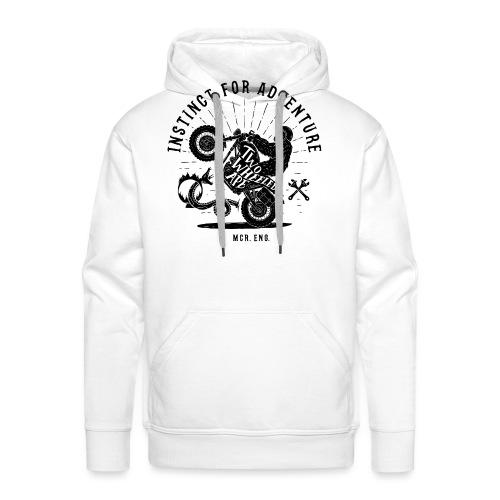 Two Wheeled Ape Wheelie Biker T shirt - Men's Premium Hoodie