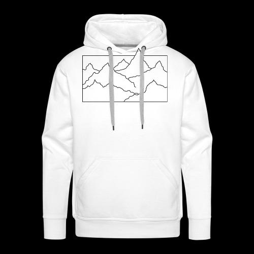Kontur Gebirge schwarz - Männer Premium Hoodie