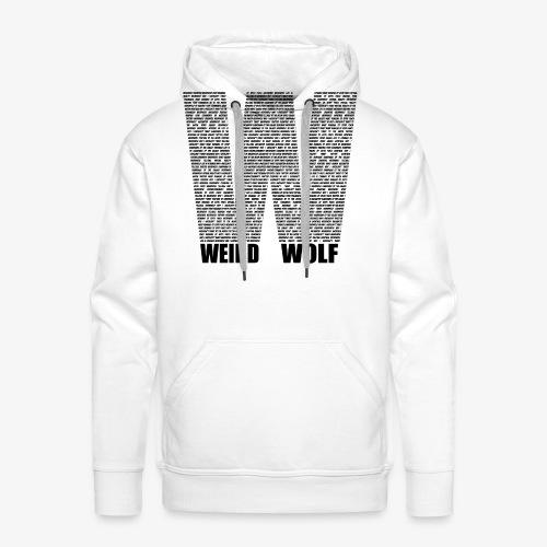 The Big W (Black) - Men's Premium Hoodie