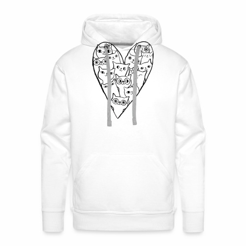 I Love Cats - Men's Premium Hoodie