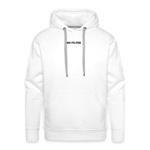 NO FILTER Black Version - Sweat-shirt à capuche Premium pour hommes
