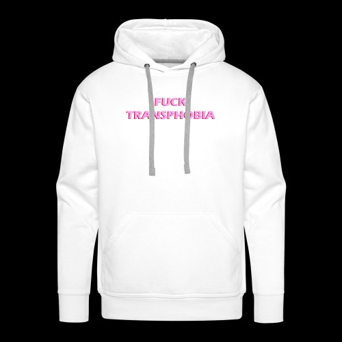fuck transphobia - Bluza męska Premium z kapturem
