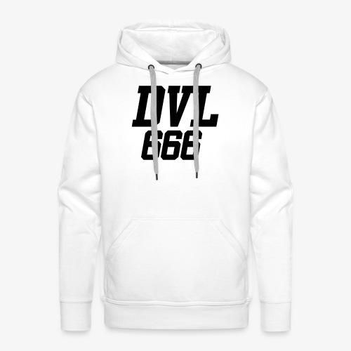 DVL666 - Sudadera con capucha premium para hombre
