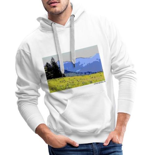 Berge künstlerisch - Männer Premium Hoodie