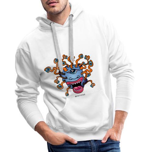 Mystified Eyeball Monster - Mannen Premium hoodie