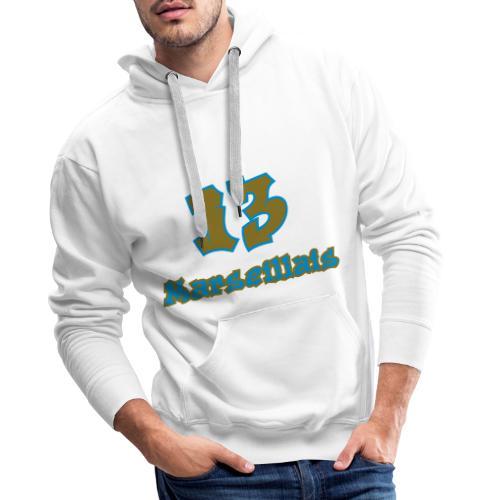 fier marseille blanc 03 - Sweat-shirt à capuche Premium pour hommes