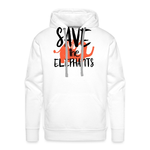 Save the Elephants - Men's Premium Hoodie