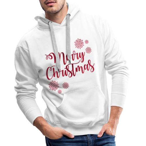 Merry christmas Noël New shape fane design vintage - Sweat-shirt à capuche Premium pour hommes
