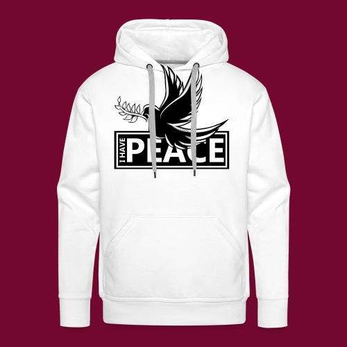 I Have Peace Black - Men's Premium Hoodie