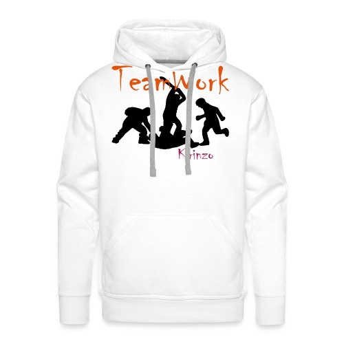 team work - Sweat-shirt à capuche Premium pour hommes