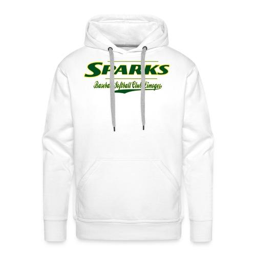 logo sparks fond vert 2 gif - Sweat-shirt à capuche Premium pour hommes