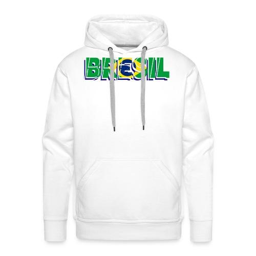 brésil - Sweat-shirt à capuche Premium pour hommes