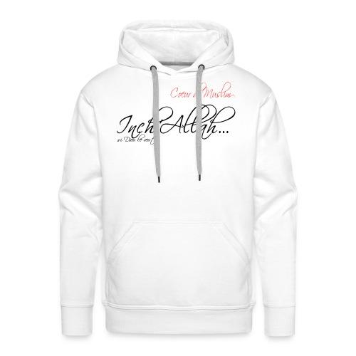 Basic bébé inch'Allah blanc - Sweat-shirt à capuche Premium pour hommes