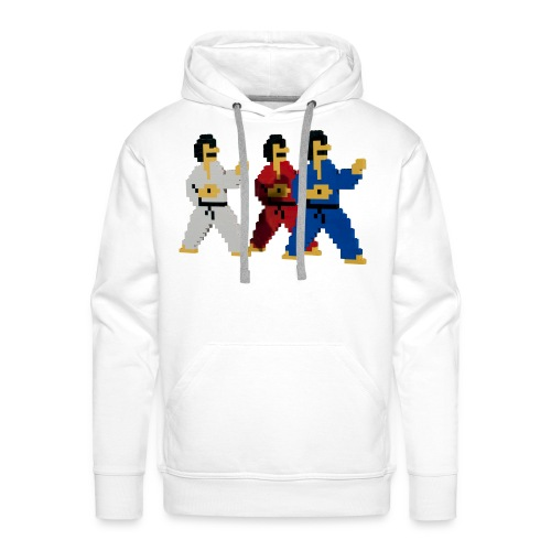 8 bit trip ninjas 1 - Men's Premium Hoodie