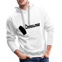 I Wish I Was Kitesurfing - Black - Men's Premium Hoodie - white