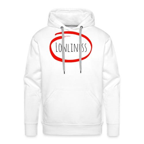 Lonliness-Białynapis - Bluza męska Premium z kapturem
