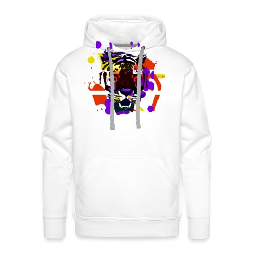 Tiger Splatter Motive - Men's Premium Hoodie