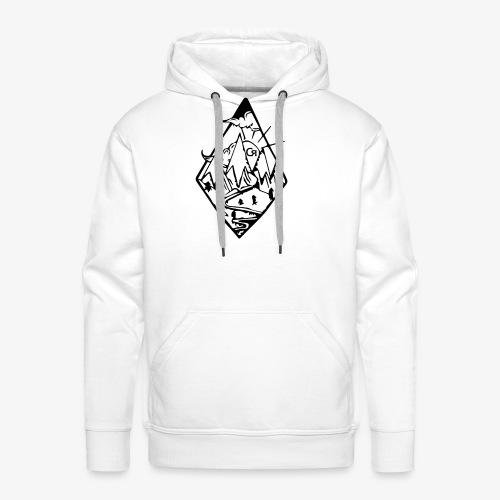 losange cr - Sweat-shirt à capuche Premium pour hommes