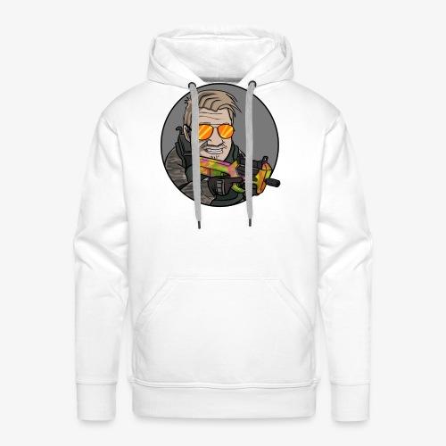 Dummbabbler zentriert - Männer Premium Hoodie