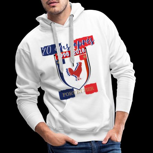 france FRANCE foot coupe du monde football - Sweat-shirt à capuche Premium pour hommes