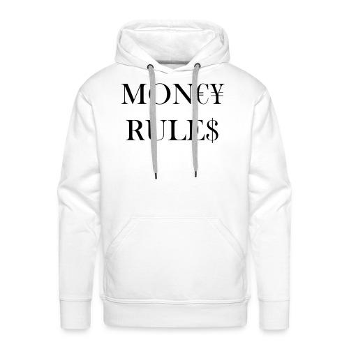 Money Rules - Sweat-shirt à capuche Premium pour hommes