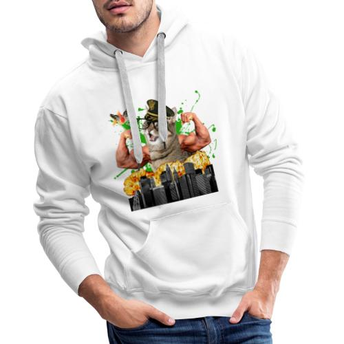 psychocat - Mannen Premium hoodie