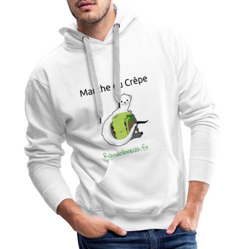 Randobreizh, marche ou crêpe - Sweat-shirt à capuche Premium pour hommes
