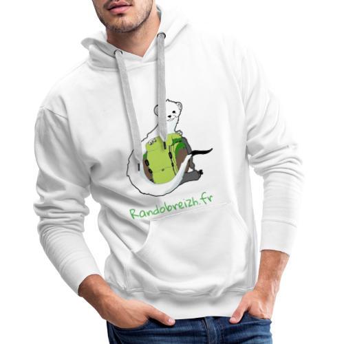 Randobreizh.fr - Sweat-shirt à capuche Premium pour hommes