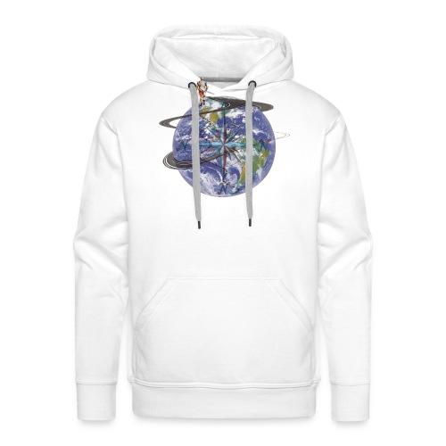homme terre expression - Sweat-shirt à capuche Premium pour hommes