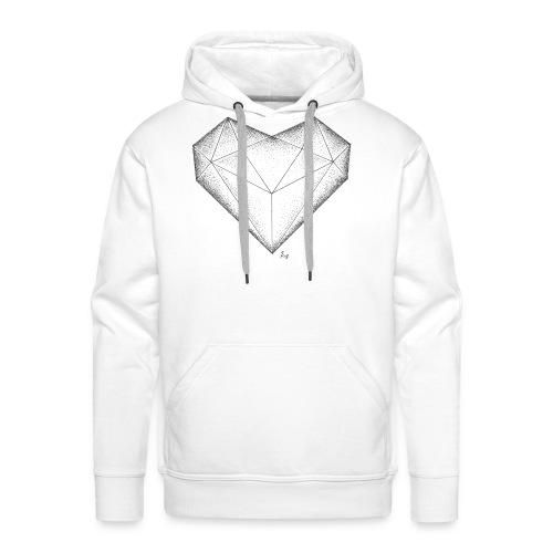 Herz Diamant - Männer Premium Hoodie