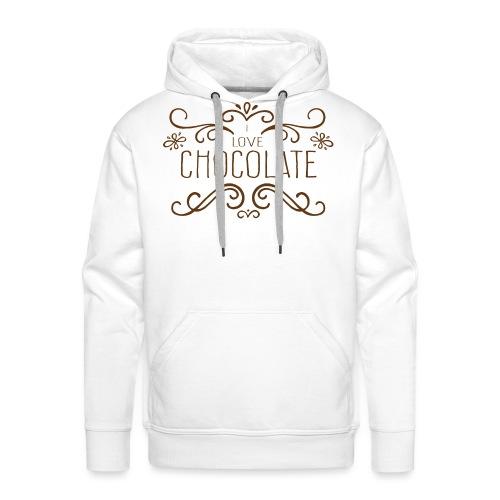 I Love Chocolate - Sweat-shirt à capuche Premium pour hommes