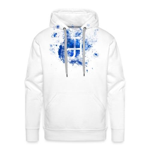 Glyphe Blau - Männer Premium Hoodie