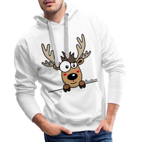 Baby Caribou Renne Noël (by nimalo.com) - Sweat-shirt à capuche Premium pour hommes