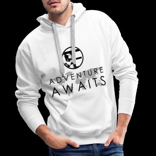 Travi's Edition / Adventure Awaits / Black - Männer Premium Hoodie