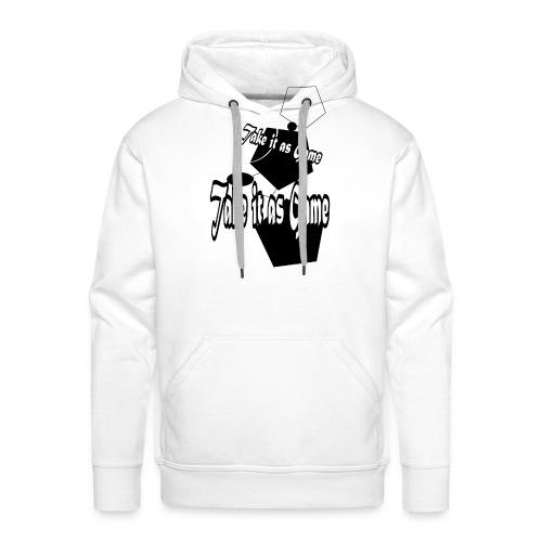 take it as game - Sweat-shirt à capuche Premium pour hommes