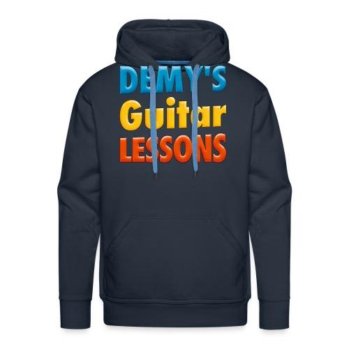 demys guitar lessons logo groot - Men's Premium Hoodie