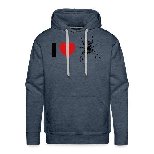 I ❤️ Kreuzspinne - Männer Premium Hoodie
