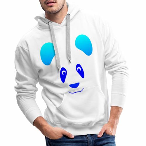 Happy Panda - Blue - Men's Premium Hoodie