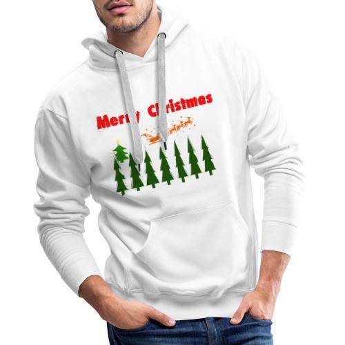 Merry christmass - Felpa con cappuccio premium da uomo
