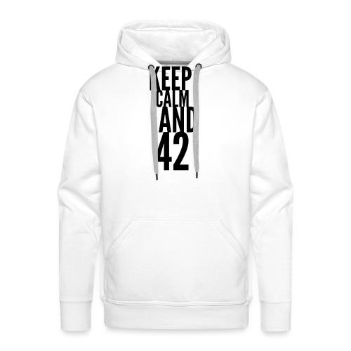 Keep Calm And 42. Die Antwort ist 42. The Answer - Männer Premium Hoodie