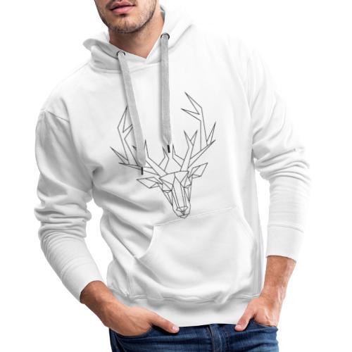 MonkeyShy tête de cerf noir paillettes - Sweat-shirt à capuche Premium pour hommes
