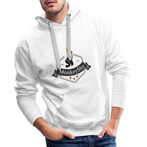 MonkeyShy logo fanion - Sweat-shirt à capuche Premium pour hommes