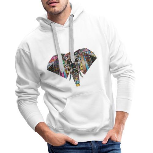 Eléphant symétrique couleurs - Sweat-shirt à capuche Premium pour hommes