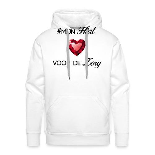 #MijnHartVoorDeZorg - Mannen Premium hoodie