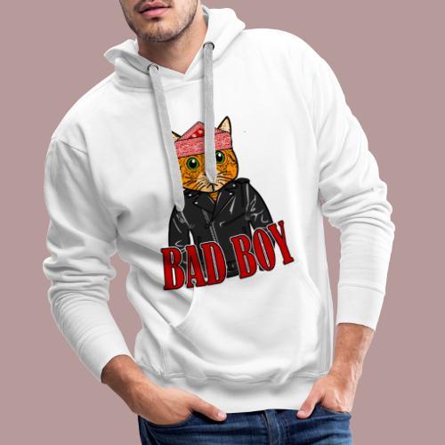 Bad boy chat roux rockeur - Sweat-shirt à capuche Premium pour hommes