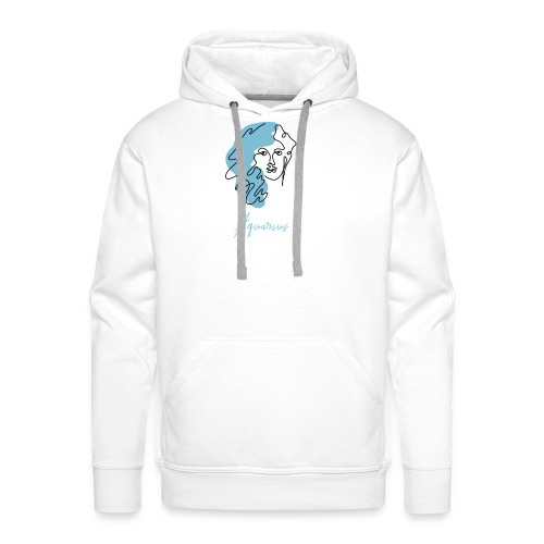 Aquarius Zodiac Sign Line Art - Männer Premium Hoodie