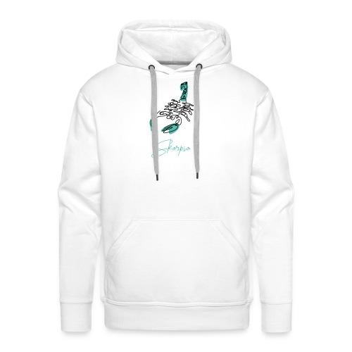 Skorpio Zodiac Sign Line Art - Männer Premium Hoodie